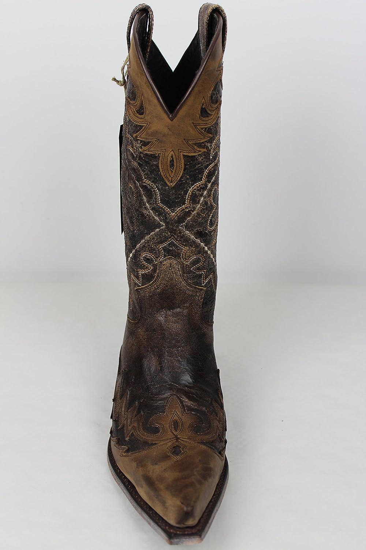 Sendra Stiefel Cowboystiefel 9669 in braun antik incl. incl. incl. Roy Dunn´s Lederfett und Stiefelknecht cba666