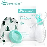 Bumblebee breast pump manual breast pump breastfeeding freemie collection cups pump stopper lid pouch in gift box bpa free & 100% food grade silicone similar haakaa breast pump