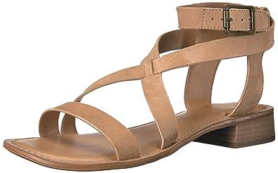 b895455b0ba Franco Sarto Women s Alora Heeled Sandal Dark Camel 5 Medium US