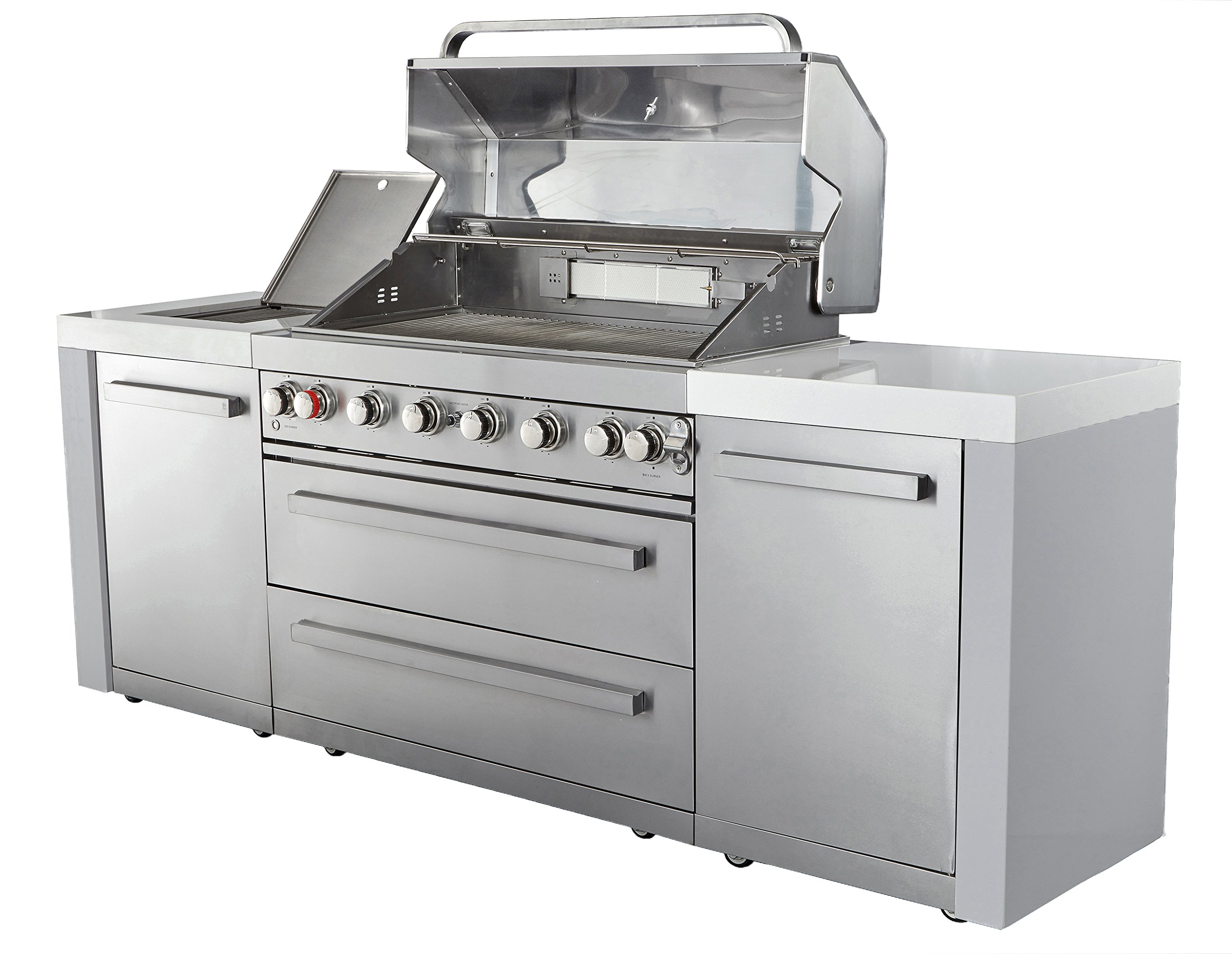 Mont Alpi MAI805 44'' Outdoor Barbeque Island, 47.00 x 20.00 x 93.00 inches, Stainless Steel by Mont Alpi (Image #2)