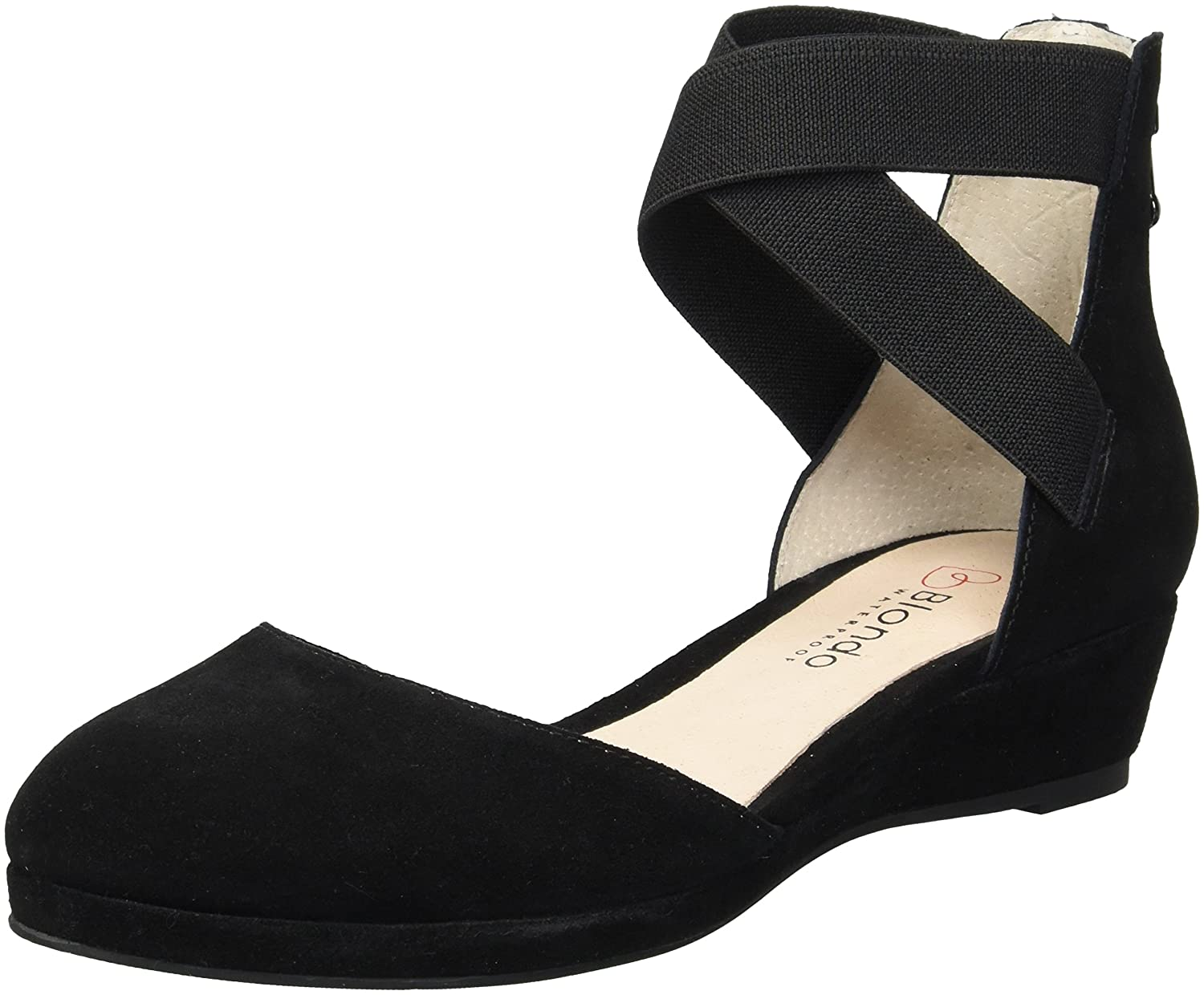 Blondo Women's Cathy Waterproof Ballet Flat B079G1LPRJ 8 B(M) US|Black Suede
