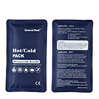Hot & Cold Reusable Gel Pack Compress Wrap - Pack of 3 - Great for Migraine Relief...