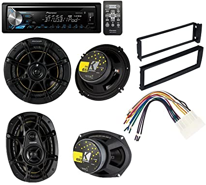 96-98 civic honda radio dash installation mounting kit with wiring harness  and pioneer deh