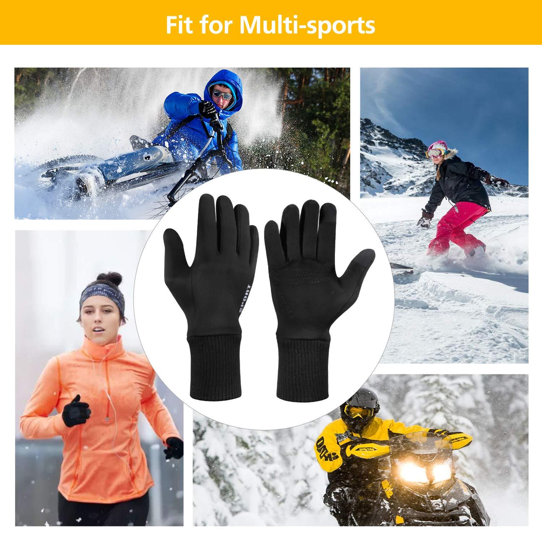 Guanti Touchscreen di Smartphone Antivento Guanti Esterna per Ciclismo Invernali Winter Running Guanti da Bici Impermeabili Antivento a Caldo per Sciare