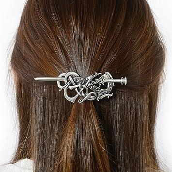 Amazon Com Viking Dragon Hair Barrettes Hairpins Norse Celtic Knot Hair Accessories Hair Slide Long Hair Pin Hair Sticks Irish Hair Decor For Long Hair Jewelry Braids Hair Clip With Stick