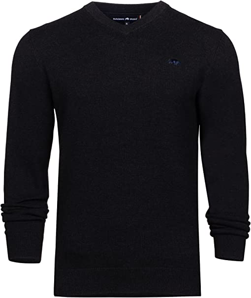 Raging Bull Big and Tall V-Neck Cott/Cash Sweater Jersey para Hombre