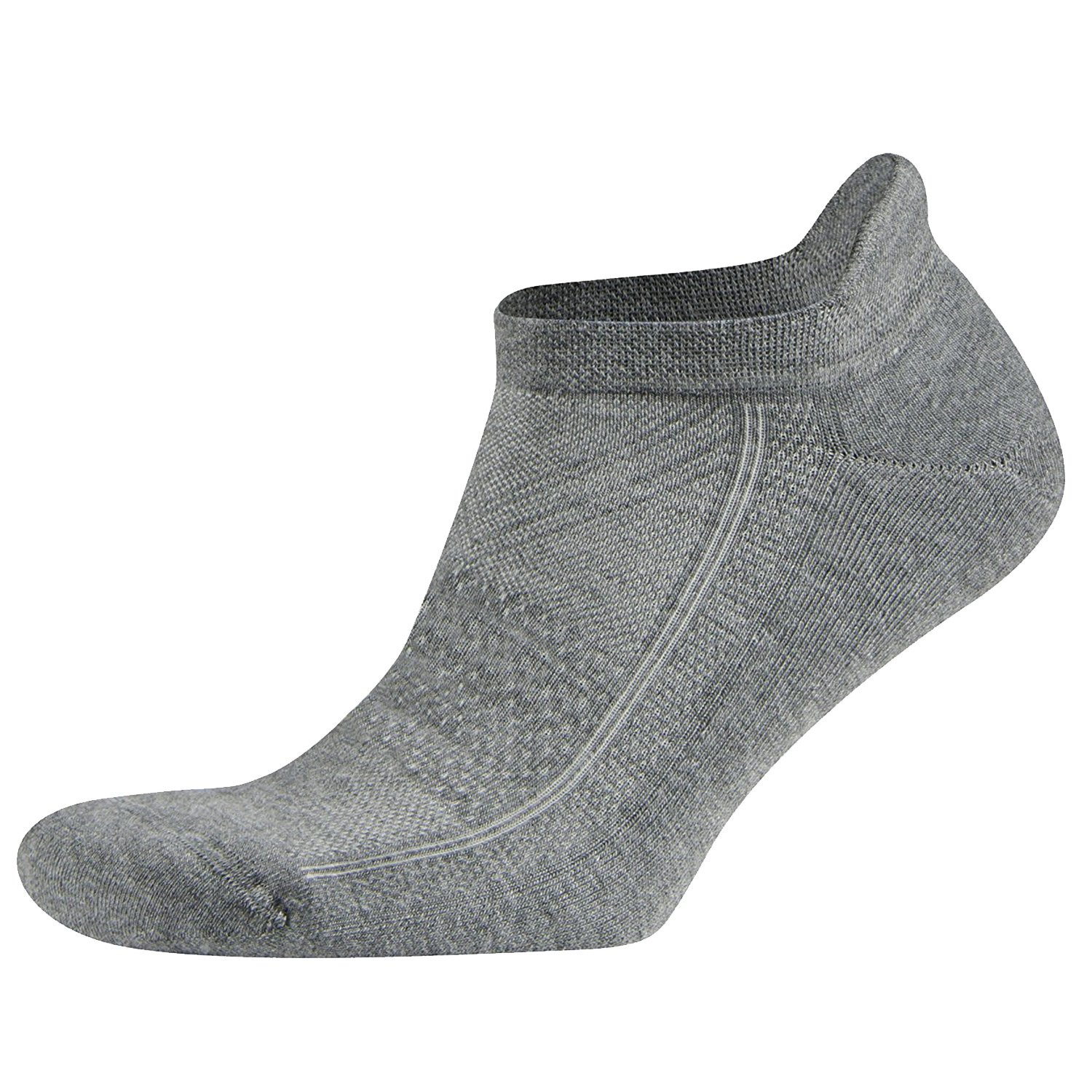 No Show Running Socks for Men and Women, 6 Pairs Comfort Hidden Low Cut Ankle Socks (L, Grey)