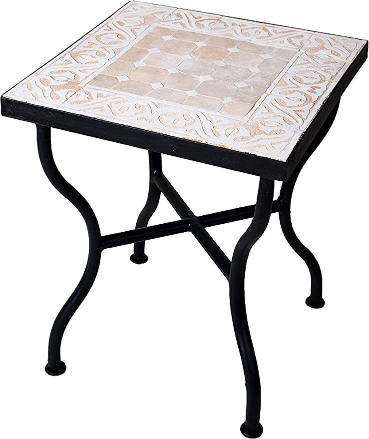 Marrakesch - Mesa de jardín (40 x 40 cm, Cuadrada, para balcón o jardín), diseño de Mosaico: Amazon.es: Juguetes y juegos