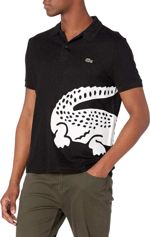 Lacoste Men's Short Sleeve Large Croc Animation Regular Fit Polo ...