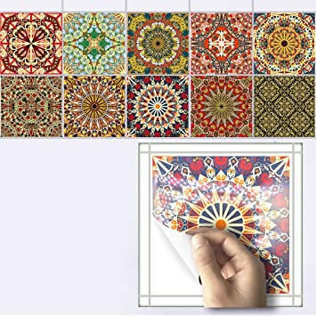 SQUARES Wall Art or Tile Stickers 3 x Sizes waterproof decals Many Colours