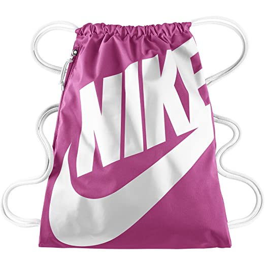 08f675ec682f8 Image Unavailable. Image not available for. Color: Nike Heritage Drawstring  backpack (Pink)