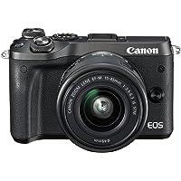 Canon EOS M6 EF-M, 15-45mm STM lens , 24.2 MP Mirrorless Digital Camera, Black