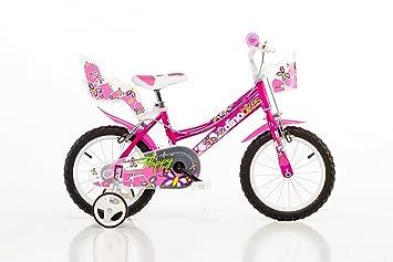 Dino Bikes 166R – Bicicleta para niña, bicicleta infantil, ruedas de 16 pulgadas: Amazon.es: Deportes y aire libre