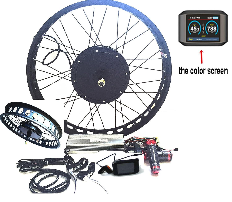 theebikemotor 3000W Hub Motor Electric Bike Conversion Kit + LCD+ Disc  Brake Rear Wheel