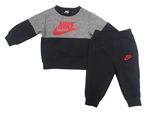 7d9024984a2d Nike Infant Baby Fleece Sweater and Pants Set  (Anthracite(66E314-693) University Red