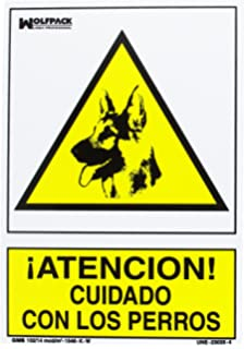 Cofan Cartel combinado Peligro Prohido el paso / perros ...