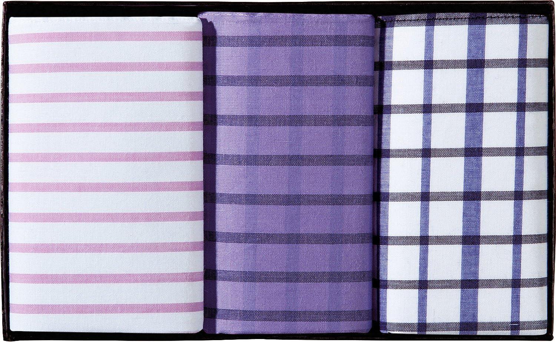 LINDENMANN Damen-Taschent/ücher 3er-Pack Baumwolle