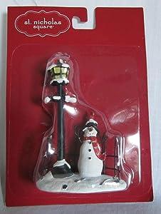 St Nicholas Square A Snowman's Welcome Christmas Village Figurine