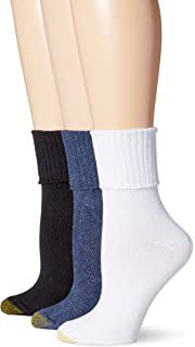 0fc955cab4a Gold Toe Women s Non-Binding Extended Size Rib Crew Sock (Pack of 3 ...