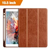 iPad Pro 10.5 Case, Benuo [Vintage Series] Folio Flip Leather Case w/ Build-in Apple Pencil Holder and Stand Feature, Smart Cover Auto Sleep / Wake Function for iPad Pro 10.5 inch 2017 (Brown)