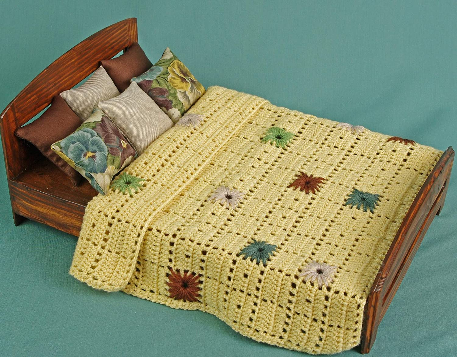 Pillows blanket set dollhouse miniature 1//6 Size 1:6 play-scale for Barbie Blythe 12 inch dolls coverlet miniature dolls accessories