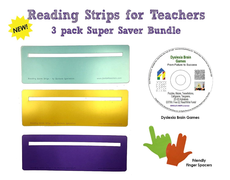 Tomorrow Evening Tuesday 1021 Dyslexia >> Amazon Com Reading Strips For Teachers Students Kids Dyslexia