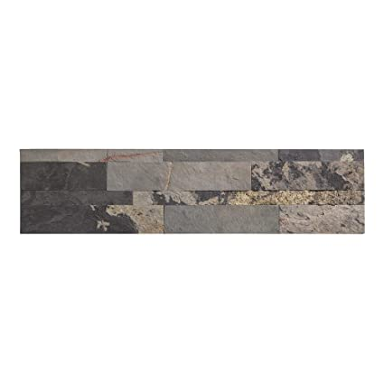 Amazoncom Aspect Peel And Stick Stone Overlay Kitchen Backsplash - Fake stone floor tiles