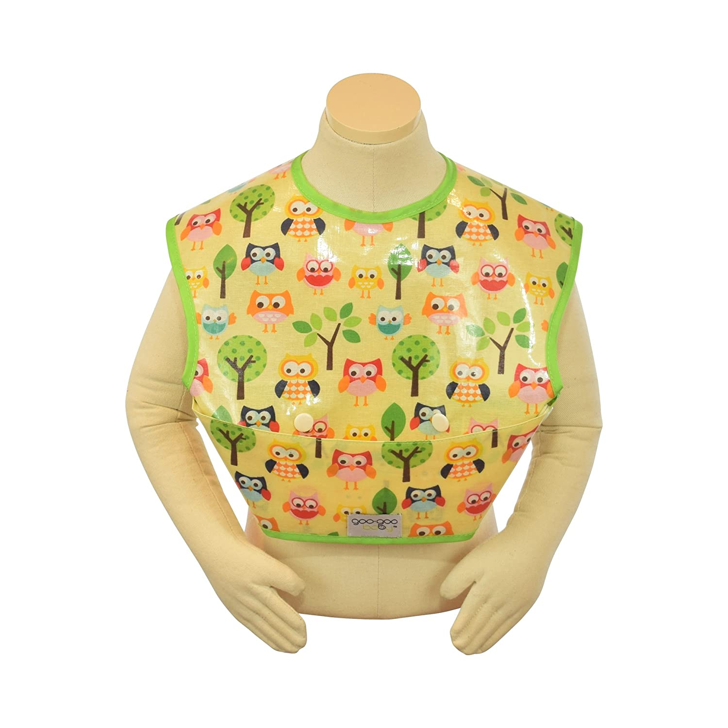 Goo-Goo Baby Perfect Pocket Bib in Sunny Owls, Size 2-4 Years, Large PPB-SUNNYOWL-L