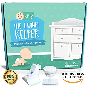 dd4e93e9166 Amazon.com   The Cabinet Keeper Magnetic Baby Locks - Baby Proof ...