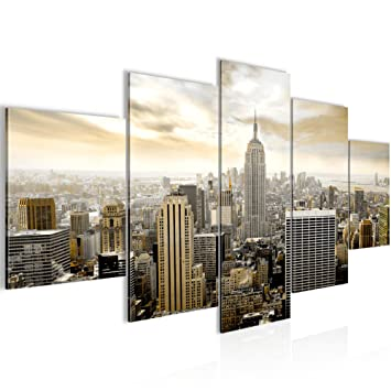 Amazon.de: Runa Art Bilder New York City Wandbild 200 x 100 cm Vlies ...