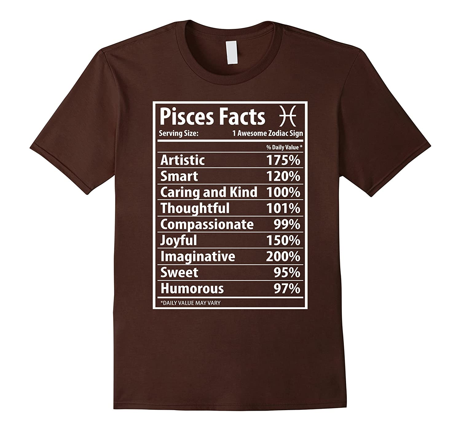 Pisces Facts Funny Pisces Zodiac T Shirt Lucky Color-CD