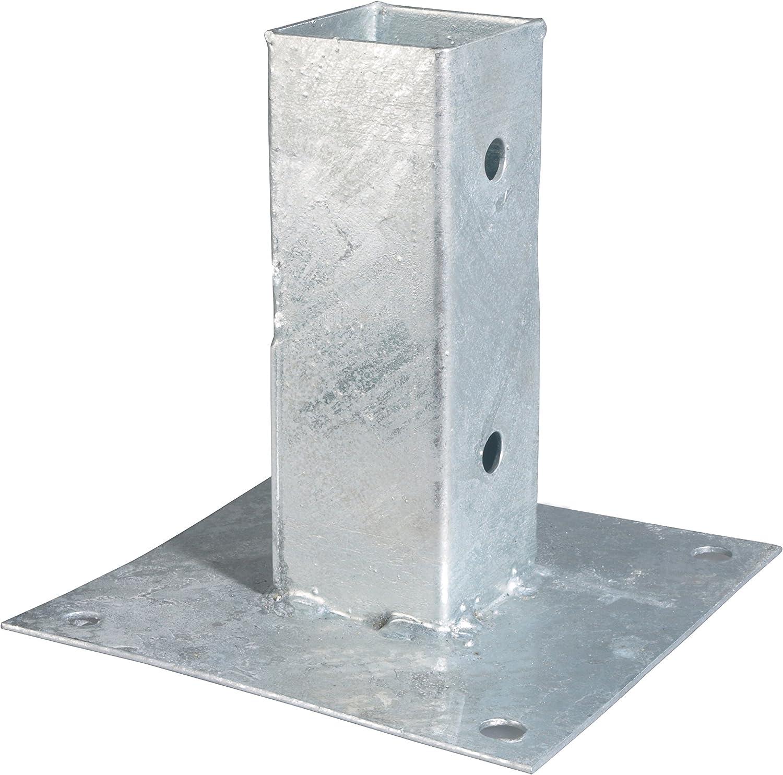 Aufschraubhülse Pfostenschuh 121 mm Pfostenträger für Pfosten rund mit Ø 12 cm
