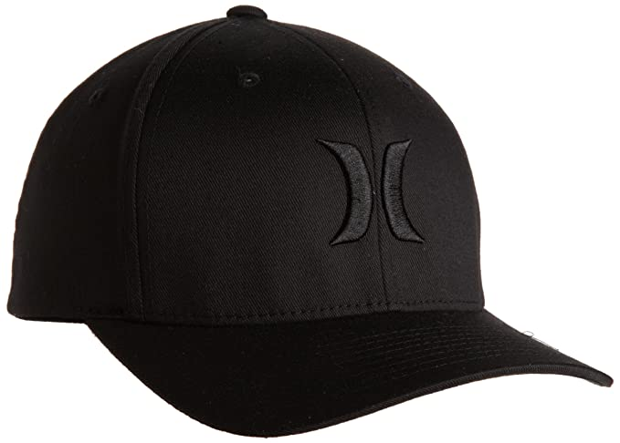 82c75f0108bb8 Hurley Men s One and Only Black Flexfit Hat  Amazon.ca  Clothing ...