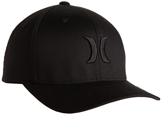 121725beb11 Amazon.com  Hurley Men s One And Only Black Flexfit Hat  Clothing