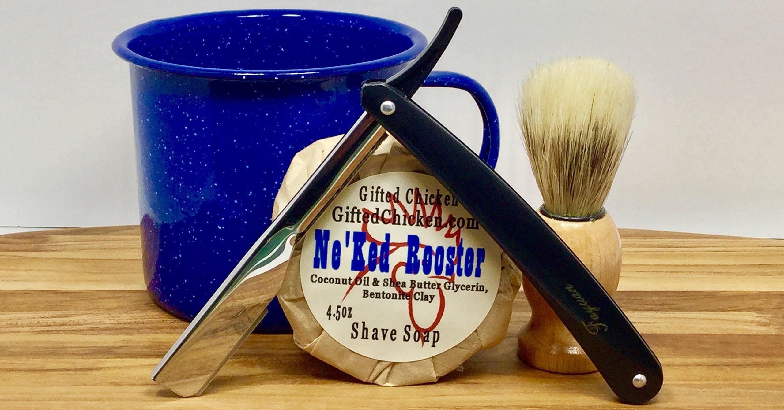 Shaving Set, Ne'ked Rooster Straight Razor