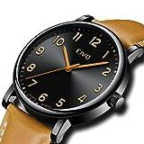 [チーヴォ]CIVO腕時計 メンズウオッチ超薄型ブラック アナログクオーツ防水メッシュ時計 シンプルデザイン日付カレンダー ラグジュアリービジネスカジュアル腕時計