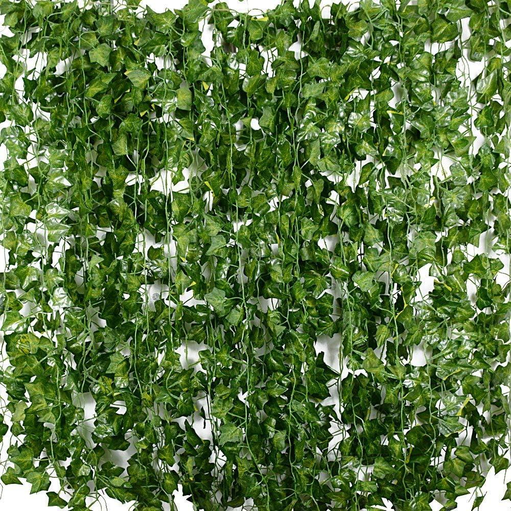 Plantas Hiedra Artificial (24pcsx2.2m) Hiedra Hojas de Vid Artificial Enredadera Guirnalda Decorativa para Decoración Hogar Escalera Ventana Balcón Valla Jardín Boda Mesa Fiesta Interior y Exterior: Amazon.es: Hogar