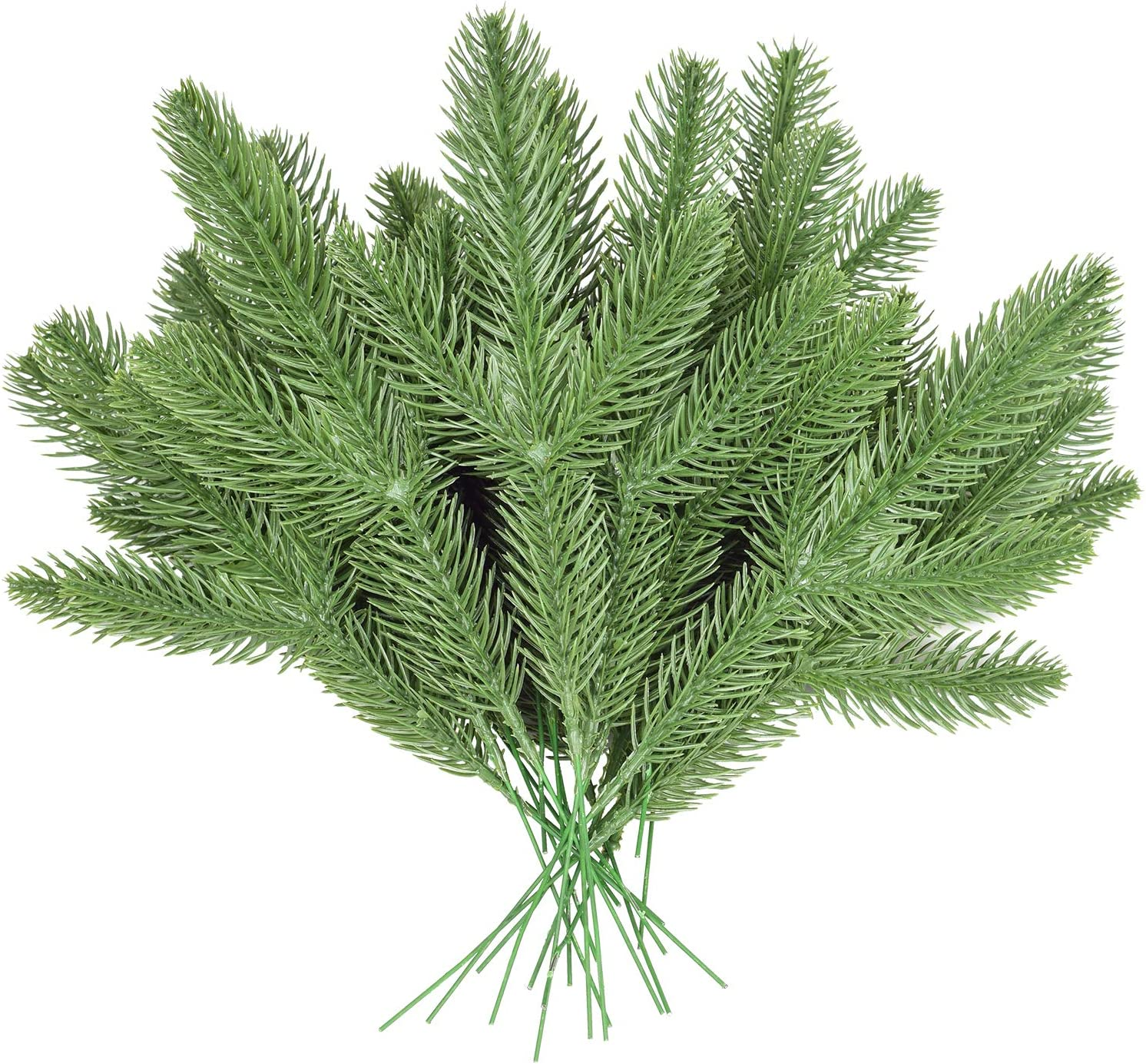 "DearHouse 36pcs Artificial Pine Picks,11"" Pine Needle Garland Christmas Artificial Greenery for Crafts Wreath Christmas Embellishing and Home Garden Decor"