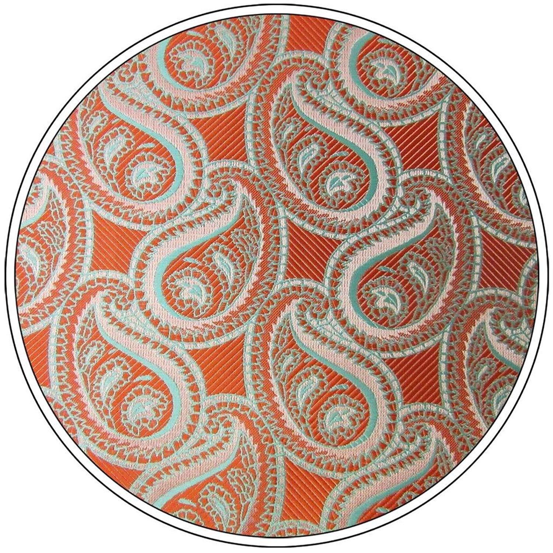 Shlax/&Wing Paisley Orange Pink Green Pocket Square Mens Hankies Hanky