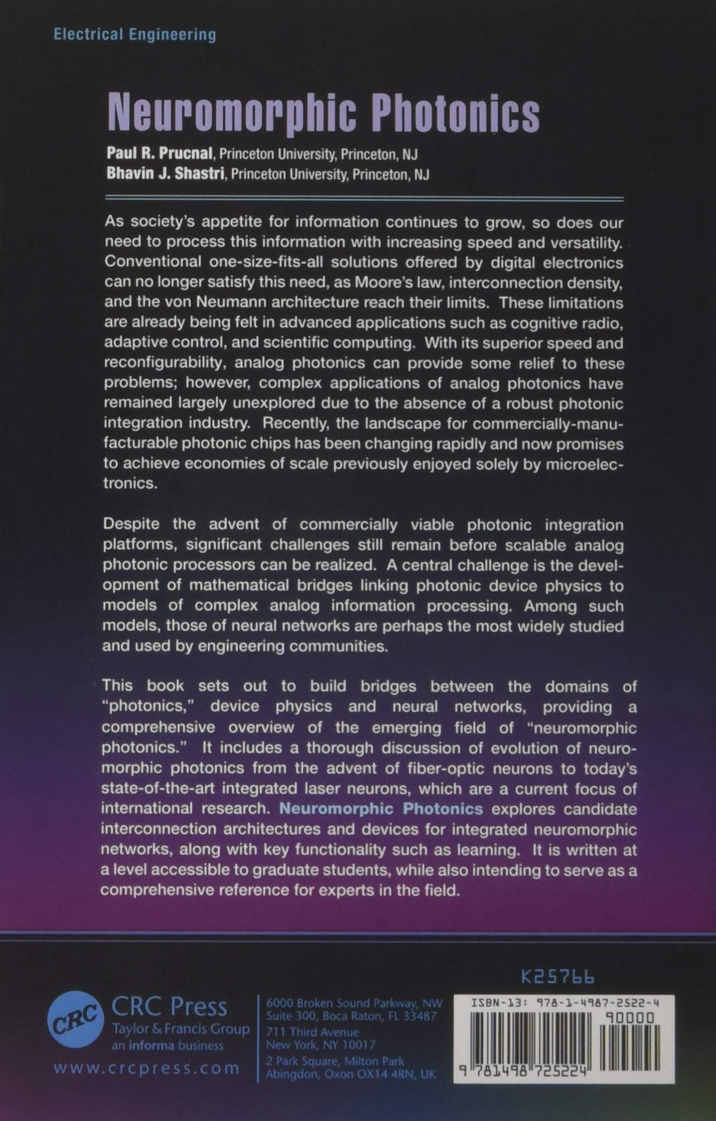 Neuromorphic Photonics: Amazon co uk: Paul R  Prucnal, Bhavin J