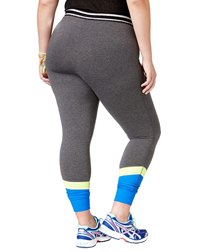 4b0f844649b6f Material Girl Active Women's Plus Size Colorblocked Leggings at Amazon  Women's Clothing store:
