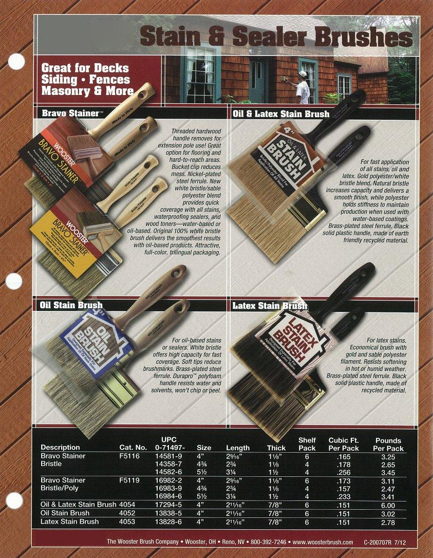 Wooster Brush F5116-5-1/2 Bravo Stainer Stain Brush, 5-1/2-Inch
