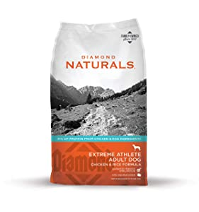 DIAMOND NATURALS Extreme Athlete Real Meat Recipe Dry Dog Food with Real Cage Free Chicken Protein 40lb