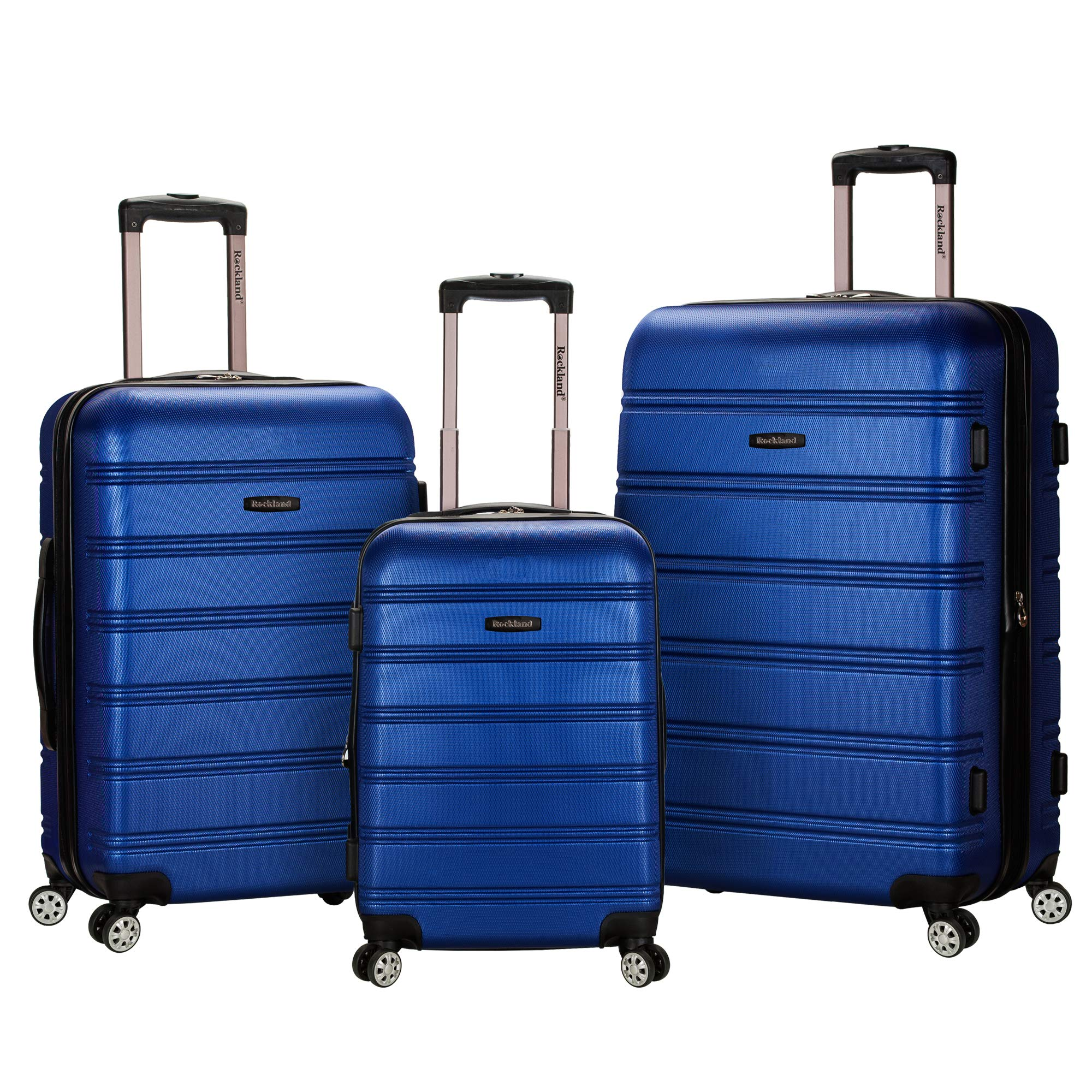 Rockland Melbourne 3 Pc Abs Luggage Set, Blue by Rockland