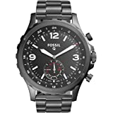 Fossil Q Men's Nate Stainless Steel Hybrid Smartwatch, Color: Grey (Model: FTW1160)