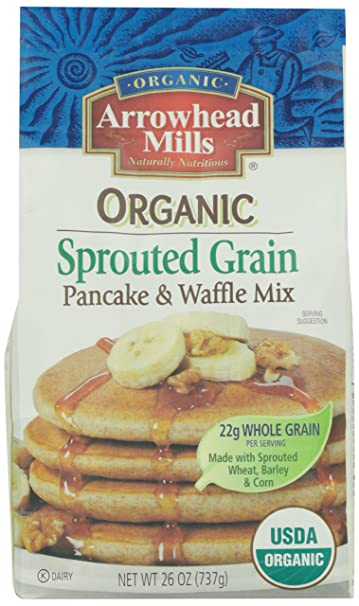 Amazoncom Arrowhead Mills Organic Sprouted Grain Pancake Waffle