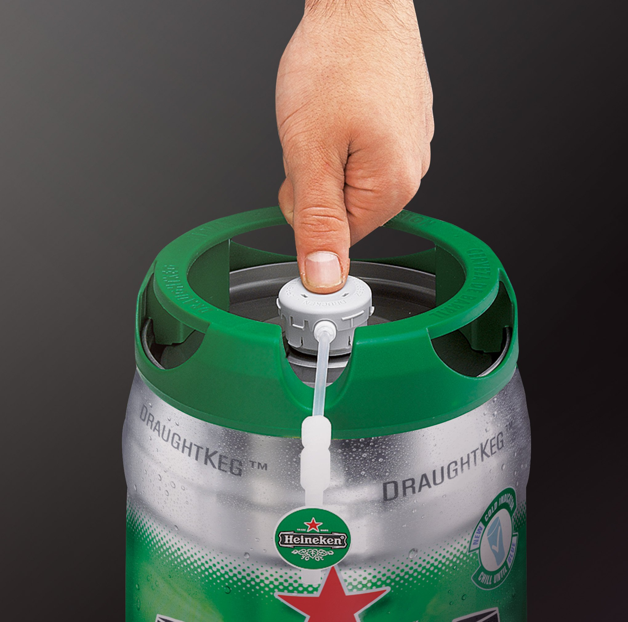 krups and heineken b100 beertender with heineken draught keg technology black buy online in