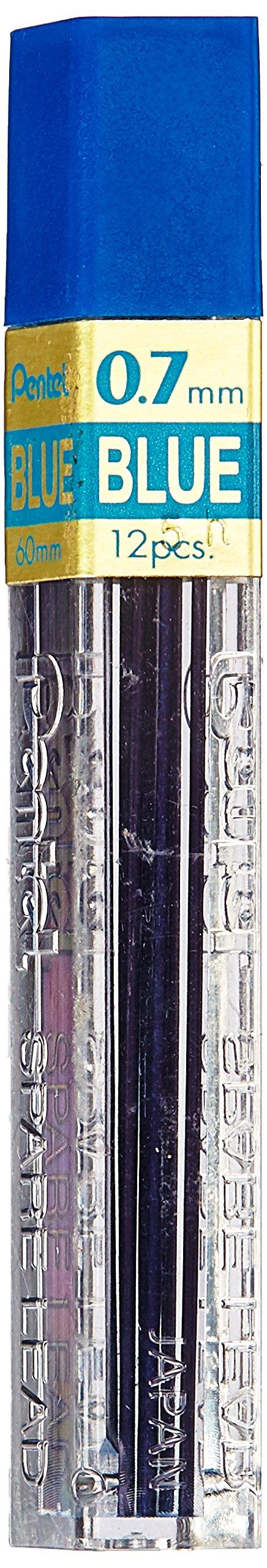 Pentel Lead Refill.7mm, 12/TB, Blue (PENPPB7)