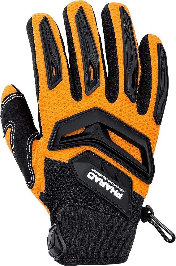 Pharao X Motorradhandschuhe Kurz Motorrad Handschuh Textilhandschuh 1 0 Orange 10 Herren Cross Offroad Sommer Bekleidung