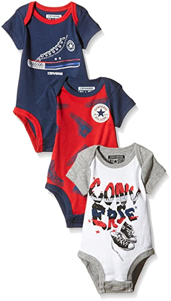 Converse Baby Boys 0 24m Chuck 3 Pack Boxed Clothing Set